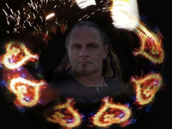 Feuershow Hochzeit LED Show Rick on fire