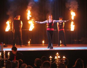 Sam and more Indoor Feuershow