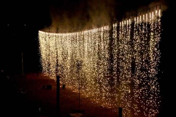 Barock-Feuerwerk Wasserfall
