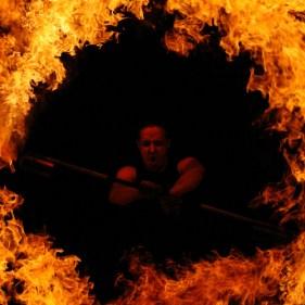Feuereffekt Flammenshow