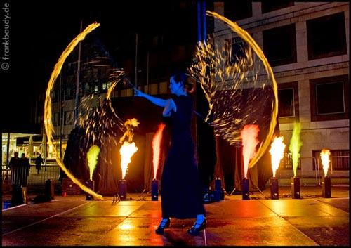 Firedance mit Flammsystem