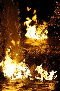 Brennendes Wasser Feuerdeko