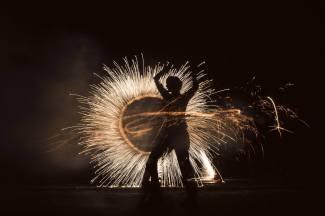 Feuerwerkshow