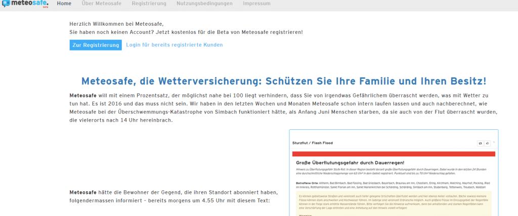 meteosafe.com mit Pushover App als Spezial-Unwetter-Informationssystem einrichten