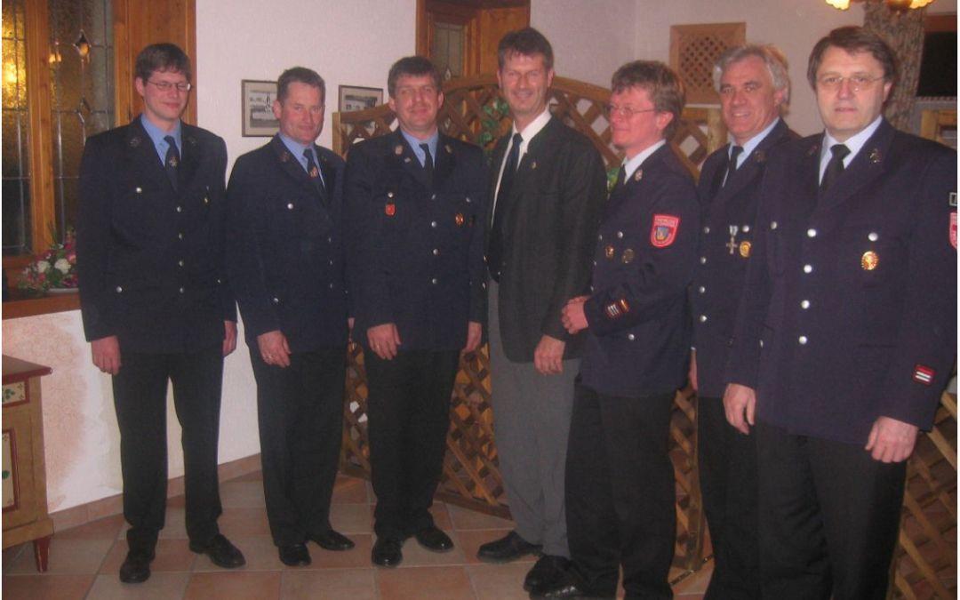 Jahreshauptversammlung der FFW Atzing  im Febr. 2006