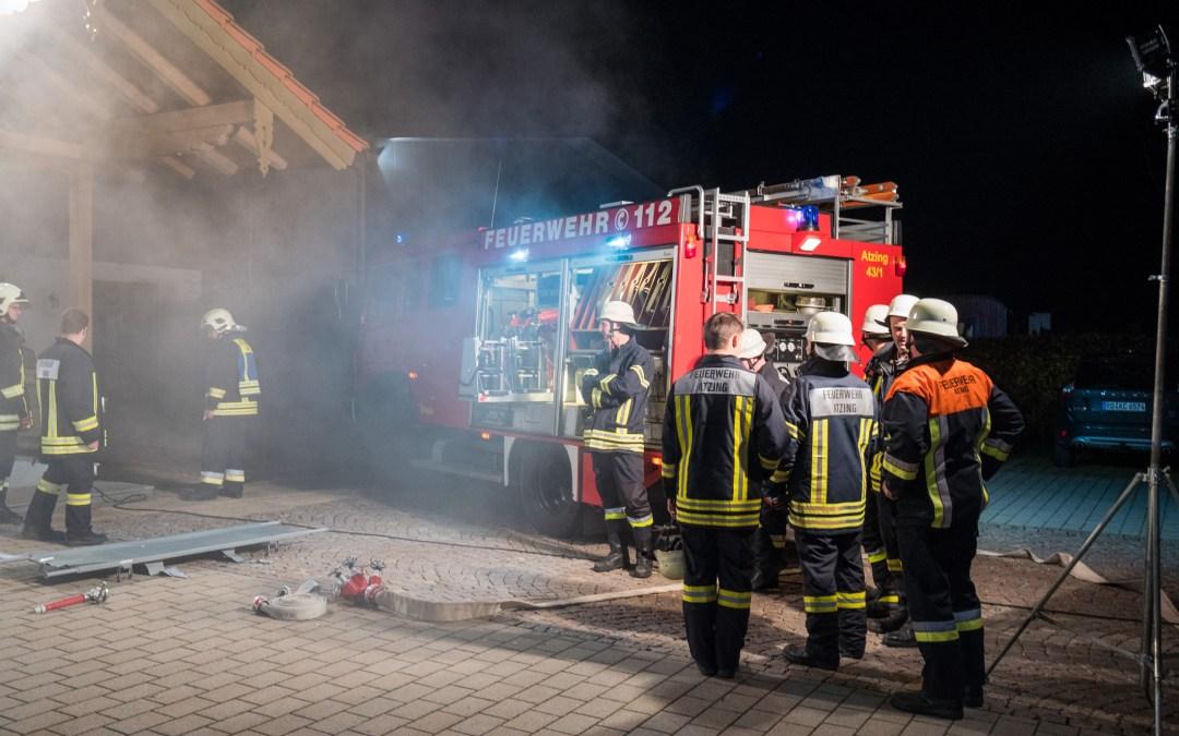 Feuerwehr-Einsatz bei Atzinger Vereinshaus