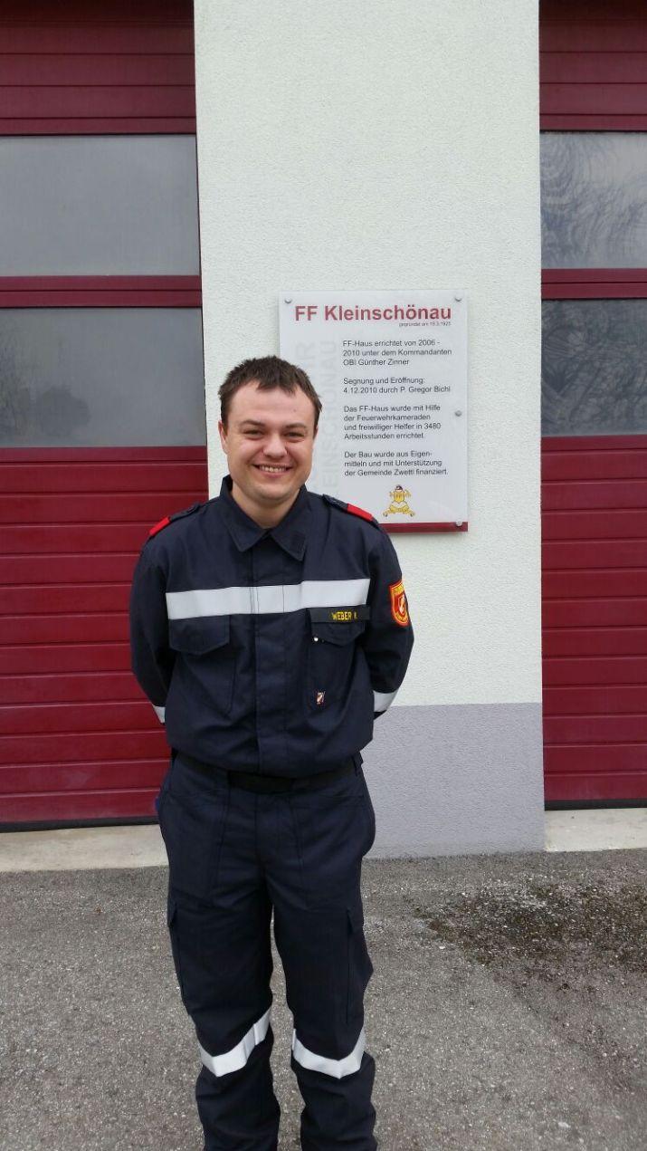 FM Martin Weber nach dem Abschlussmodul Truppmann in Kleinschönau. April 2017.