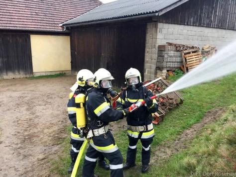 UA-Übung in Rieggers - Atemschutztrupp FF Dorf Rosenau