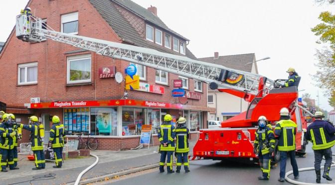 Wohnung in Lohner Innenstadt brennt