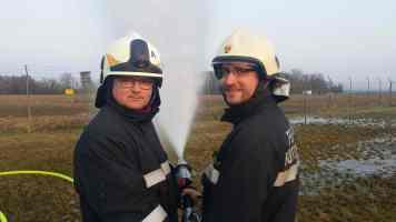 FF Siget und Rotenturm gemeinsam am Strahlrot