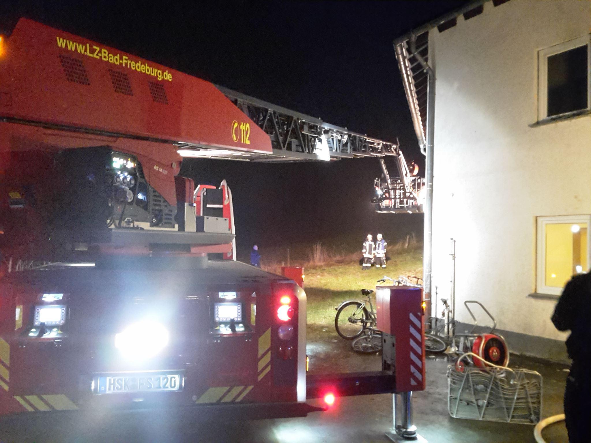 Zimmerbrand in Asylbewerberunterkunft