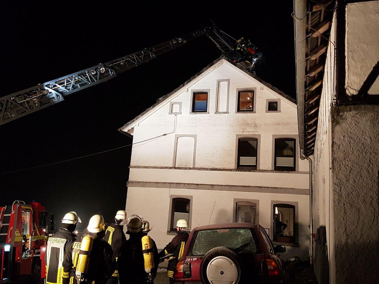 Überörtliche Hilfe – Rußbrand im Schornstein in Obermarpe