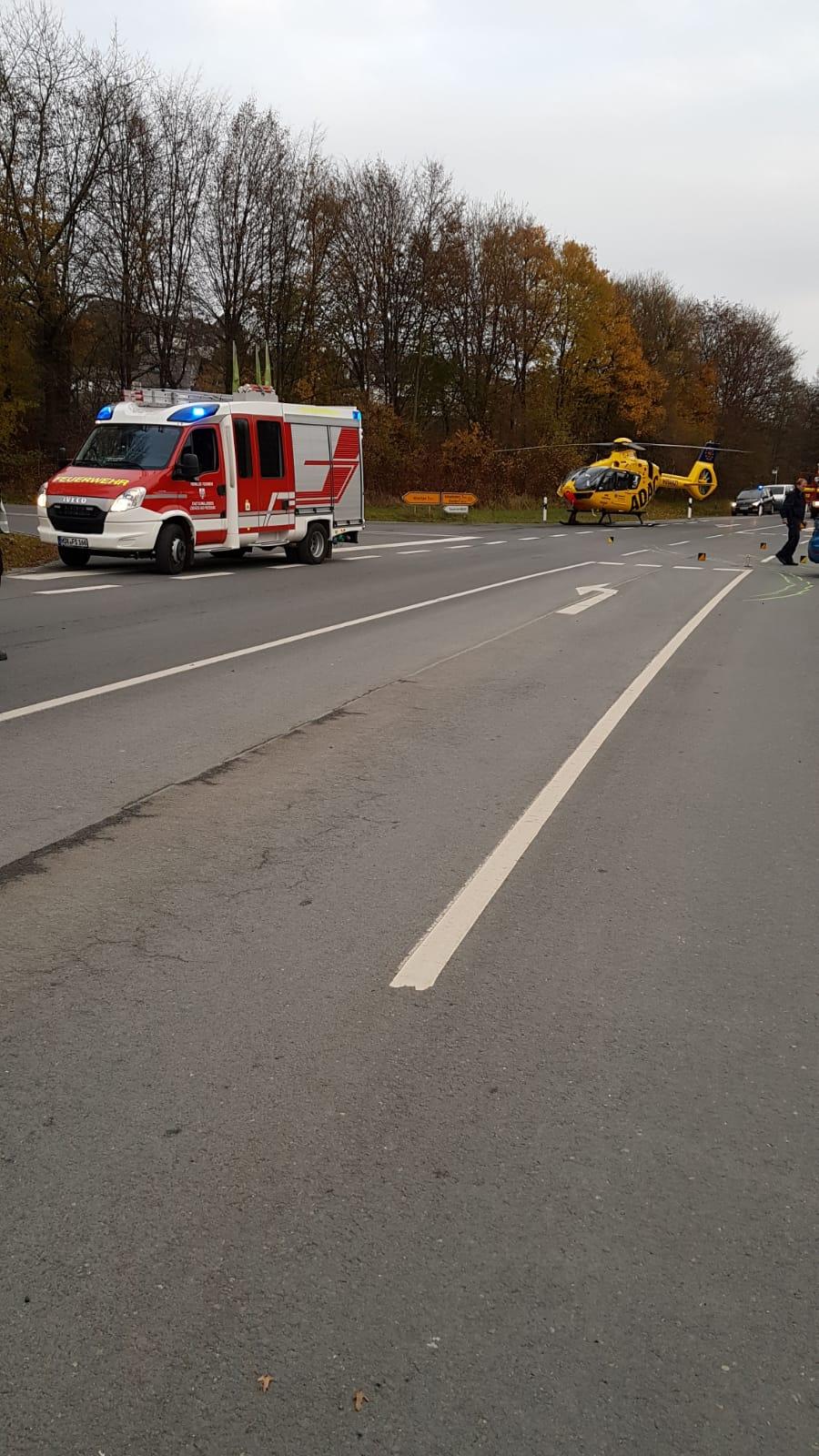 Erneut schwerer Verkehrsunfall auf der B 511 Kreuzung Leißestraße