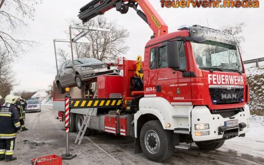 Zwei Pkw kollidieren auf der Kremser Straße in Langenlois (+Video)