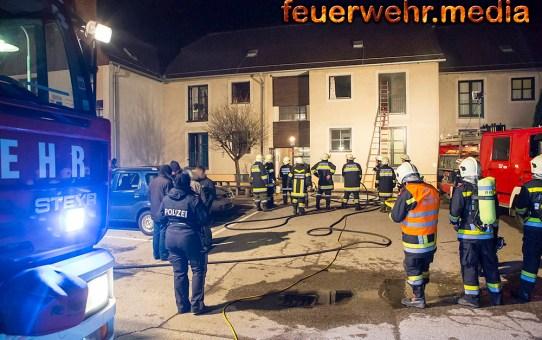 Wohnungsbrand in unmittelbarer Nähe vom Feuerwehrhaus der FF Imbach