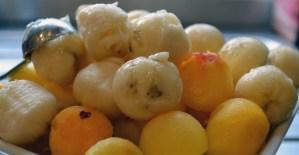 Sucette nutella et fruits - Feuille de choux