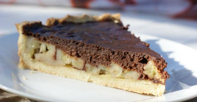 Tarte chocolat banane recette chocolat-Feuille de choux