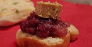 Toasts de foie gras - Feuille de choux