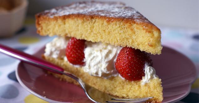 Victoria sponge cake - Feuille de choux