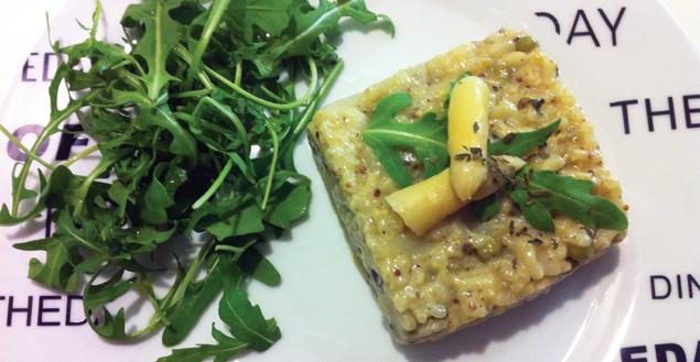 Risotto aux asperges et parmesan - Feuille-de-choux