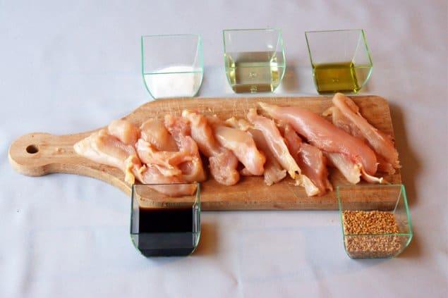 Ingredients poulet Teriyaki recette japonaise - Feuille de choux