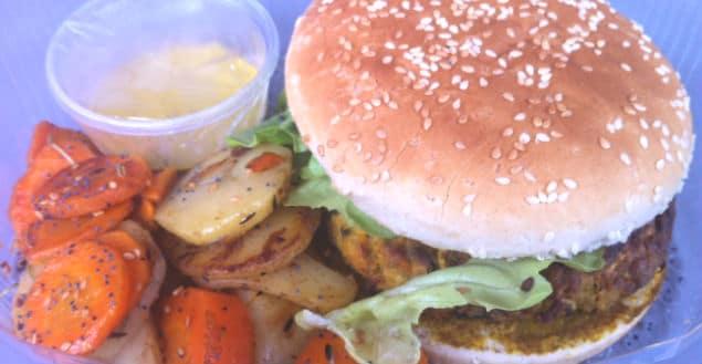 Hamburger vegetarien strasbourg bistrot chocolat-Feuille de choux