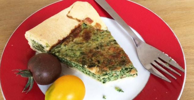 tarte aux epinards et comte-Feuille de choux