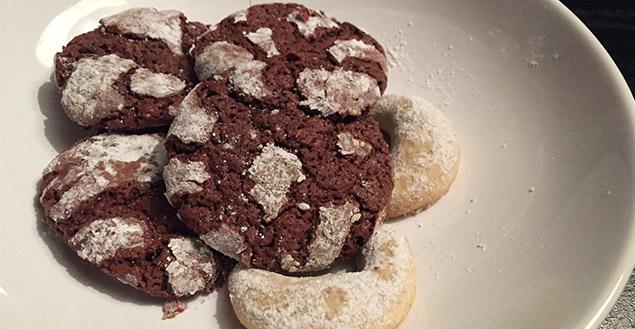 Craquelés chocolat biscuits feuille de choux