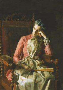 Thomas Eakins: Miss Amelia van Buren, um 1891, The Phillips Collection, Washington, D. C.