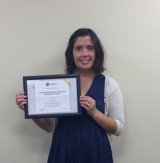 Heather Ausmus certificate pic