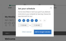 Set Goals and Add To Calendar