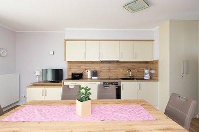 die kuche wohnzimmer mit essecke
