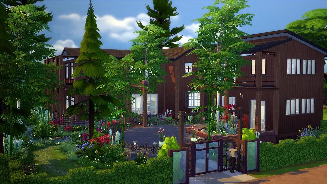 Willow Spleen Maison Pour Les Sims 4