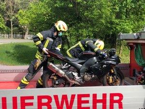 Motorradbergung