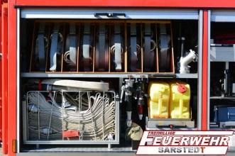 Im Geräteraum 4 sind sämtliche Utensilien für die Brandbekämpfung untergekommen.