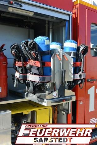 Nach dem Umbau des TLF aufgrund des Atemschutzverbund und der neuen Atemluftgeräte sind diese nun im G2 eingebaut.