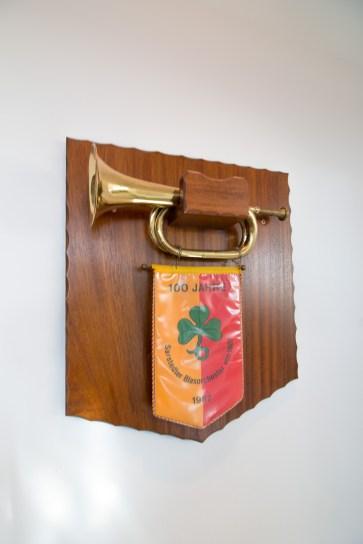 Geschenk vom Blasorchester zum 100jährigem