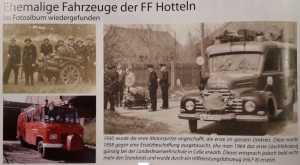 Historische Fahrzeuge der FFW Hotteln