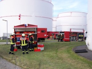 Einsatzübung im Tanklager Emleben