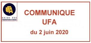 Communiqué UFA  - Reprise de pratique en salle « Dojo »