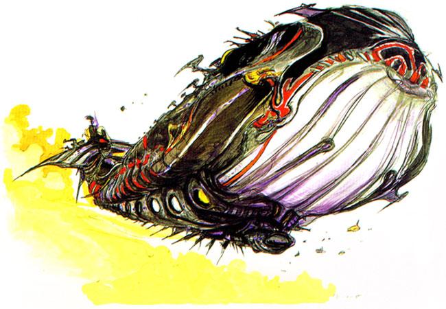 Final Fantasy airship designed by Amano Yoshitaka