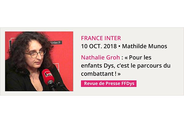 France Inter 10 oct. 2018 • Mathilde Munos Nathalie Groh
