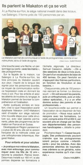 Ils parlent le Makaton et ça se voit! – Ouest France