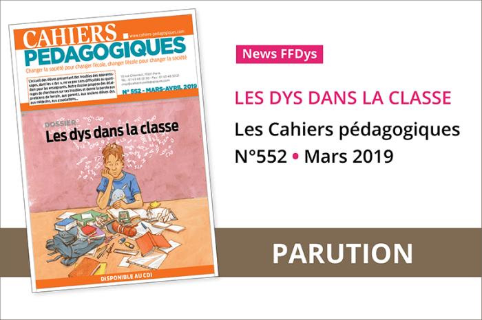 Dys % des élèves - Les Cahiers pédagogiques N°552 -