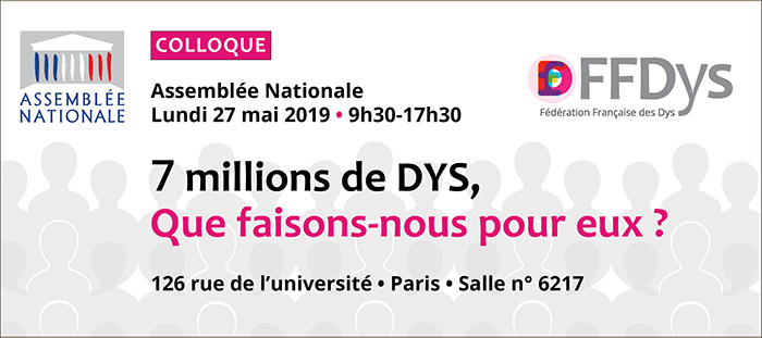 Programme FFDys Colloque FFDys Assemblee Nationale 190516