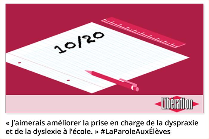 Améliorer la prise en charge de la dyspraxie et de la dyslexie à l'école - Le bulletin des secondes - Libération