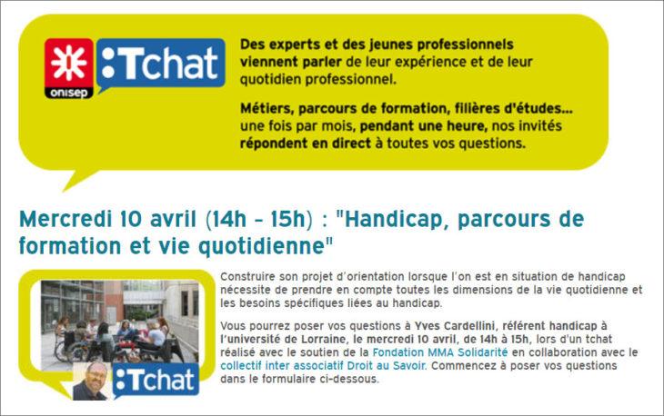 Tchat_Onisep_Handicap 190410_Article