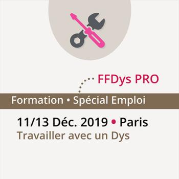 Formation FFDys Pro – 11 au 13 décembre 2019 – Paris – Travailler avec un Dys