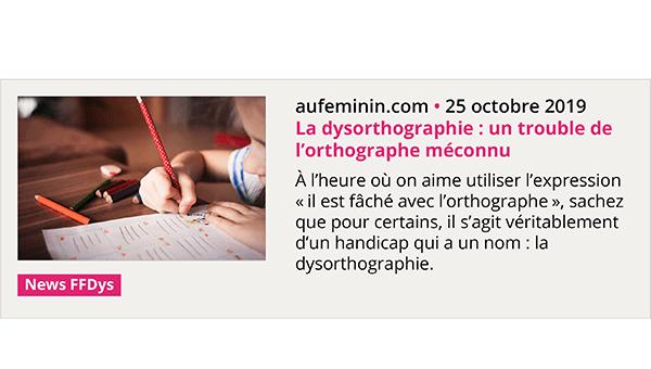 La dysorthographie, trouble de l'orthographe méconnu - Aufeminin.com