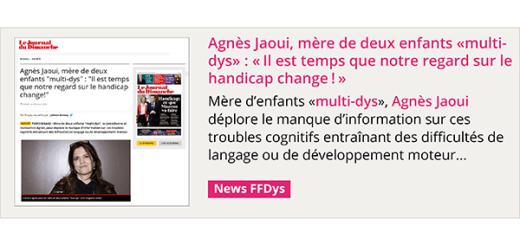 """Agnès Jaoui, mère d'enfants Dys: """"Il est temps que notre regard sur le handicap change!"""" - Le JDD"""